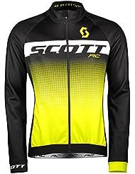 Scott RC AS bicicleta Wind Chaqueta Negro/Amarillo 2018