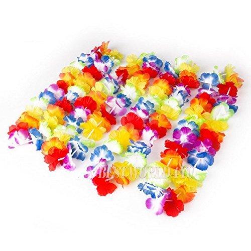 Wocharm (TM) 12 pcs Hawaiian Beach Luau Party Flower Garland Lei Leis Necklace Colorful Deco by wocharm