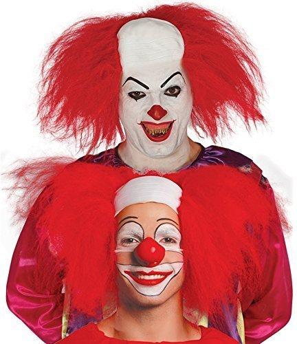 b Glatzköpfig Halloween Killer Circus Clown Kostüm Kleid Outfit Perücke Accessoire (Halloween Clown Outfit)
