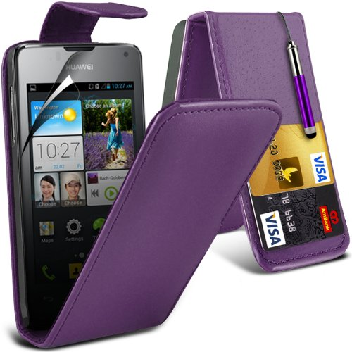fonecase-purple-huawei-ascend-y300-protective-faux-credit-debit-card-leather-flip-skin-case-cover-lc