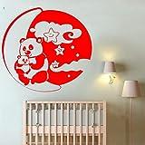 yaoxingfu Vinyle Wall Sticker Pandas avec Lune Et Étoiles Decal Décor À La Maison pour Enfants...