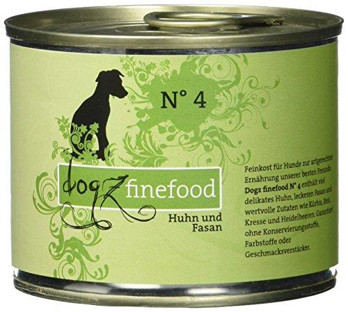 hundeinfo24.de Dogz finefood Hundefutter No.4 Huhn & Fasan 200g, 6er Pack (6 x 200 g)