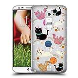 Head Case Designs Chat Licornes Spatiales Coque en Gel Doux Compatible avec LG G2 /...