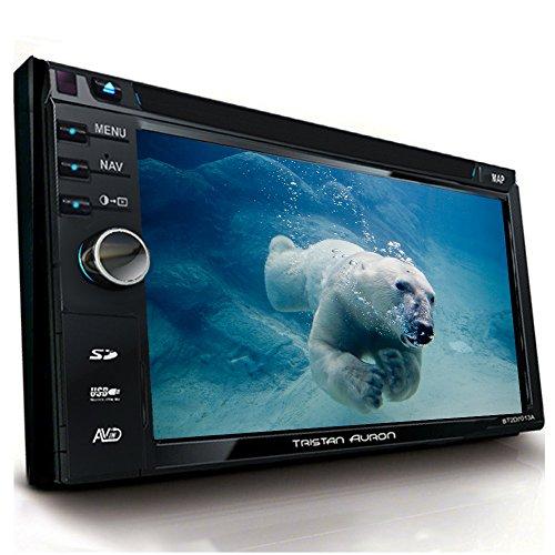 Tristan Auron BT2D7013A Autoradio | 6,5'' Touchscreen | Navi Europa | Freisprechfunktion| USB/SD-Slot | CD/DVD | 2 DIN