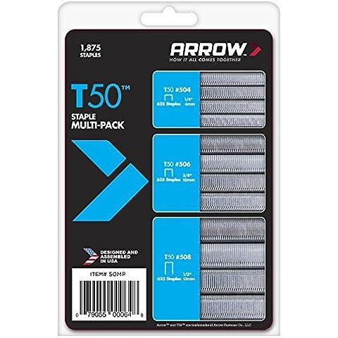 Arrow 50MP Confezione di 6 punti 1875/10/12 mm