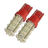 #6: 28 SMD LED T10 Parking Indicator Socket Light , 12V (Red)