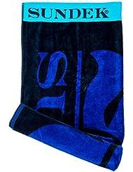 Sundek - toalla con logo, colores contrastados