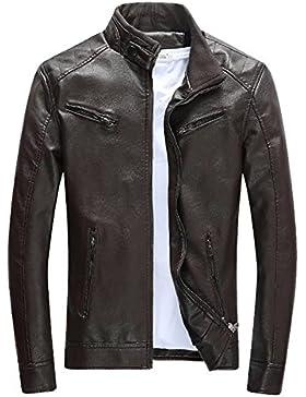 Las chaquetas de cuero de la PU del Mens de BiSHE adelgazan la capa de Harrington del paño grueso y suave