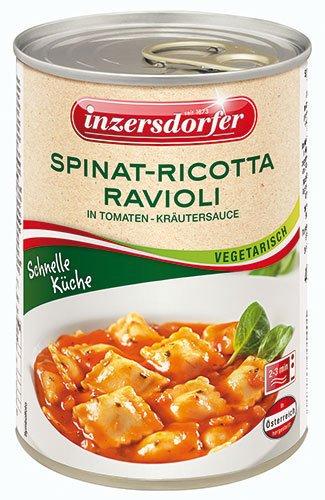 Inzersdorfer - Schnelle Küche Spinat-Ricotta Ravioli in Tomaten-Kräuter-Sauce - 400 g Spinat-pasta-sauce