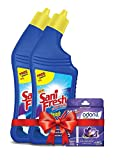 #7: Sanifresh Toilet Cleaner - 500ml+500ml (Free Odonil Air Freshener - 50g)