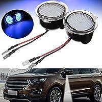 Desconocido Par de Luces LED de Espejo retrovisor Lateral para Ford Edge Mondeo Focus C-