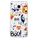 Coque pour Samsung A3 2016 Mosoris Galaxy A3 2016 Transparent Silicone Etui Soft Couverture Anti Rayure Anti Choc Motif Peint Ultra Mince TPU Flexible Coque pour Samsung Galaxy A3 2016 (4.7 Pouces) , Halloween