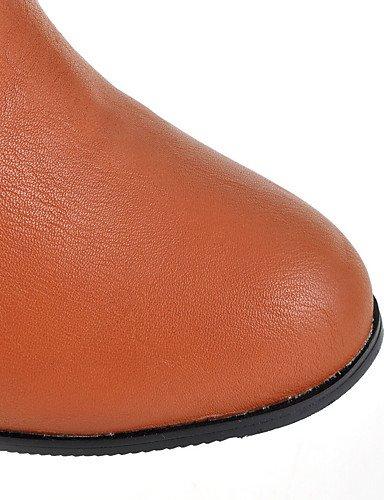 ShangYi Mode Frauen Schuhe Damen Stiefel Frühjahr / Herbst / Winter / mode schuhe stiefel Kunstleder / Casual Ferse OthersBlack / Braun Braun