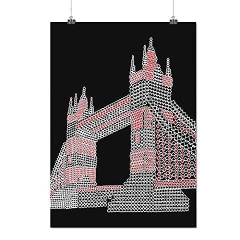 La tour Pont Royaume-Uni Londres Matte/Glacé Affiche A4 (30cm x