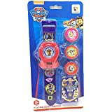 Paw Patrol Flying Disc Watch Gifts for Boys/Girls, Blue + Red