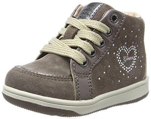 Geox Baby Mädchen B New Flick Girl D Sneaker, Braun (Smoke Grey), 24 EU