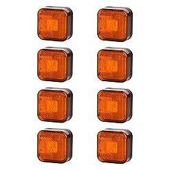 8x 4SMD LED arancione luce di indicatore laterale 12V 24V e-contrassegnato auto camion rimorchio camper caravan Van luce di posizione ambra set Quadrat quadrato universale