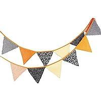 WINOMO Halloween banderines Banner Pennant triángulo bandera Banner Garland para la decoración del partido
