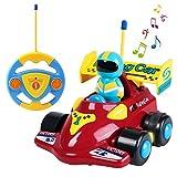 SGILE Cartoon Racer Auto Spielzeug, ferngesteuerte Spielzeugauto für Kleinkinder Kinder Geburtstag Weihnachtsgeschenk