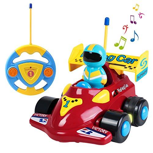 ferngesteuertes auto fuer 2 jaehrige SGILE Cartoon Racer Auto Spielzeug, ferngesteuerte Spielzeugauto für Kleinkinder Kinder Geburtstag Weihnachtsgeschenk