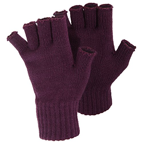 FLOSO® Ladies/Womens Winter Fingerless Gloves