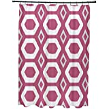 E por diseño más abrazos y besos impresión geométrica cortina de ducha, rosa mejillas