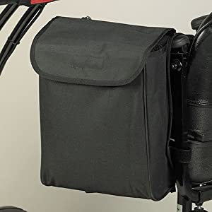 Homecraft 33 x 26 x 8 cm Wheelchair/Mobility Scooter Pannier Bag - Black