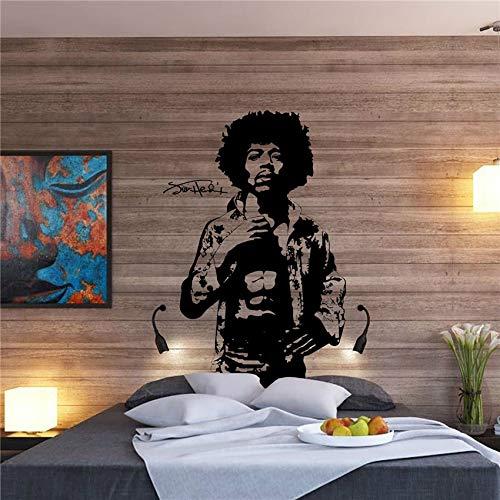 ljradj Art Decor Große Jimi Hendrix Körper Rock Guitar Legend Vinyl Aufkleber Wand Decorfor Kinderzimmer Jungen Wohnzimmer Schlafzimmer Wandaufkleber 116x70 cm