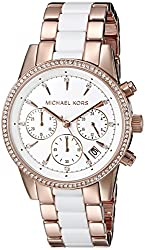 Michael Kors Analog White Dial Womens Watch-MK6324