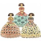 Art Deco Home - Figura x3 Meninas Resina 22 cm
