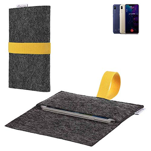 flat.design vegane Handy Hülle Aveiro für Allview Soul X5 Style passgenaue Filz Tasche Case Sleeve Made in Germany