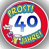 Fondant Tortenaufleger Tortenbild Geburtstag Zahl P 40
