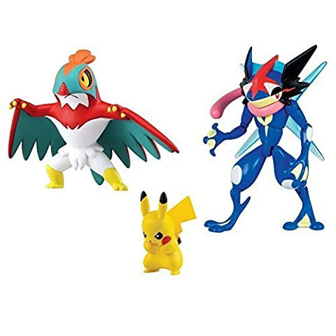 Pokemon Multipack / Heldenset Ou Action Figure / Chiffres De Collection Ash - Quajutsu, Resladero / Hawlucha Et Pikachu