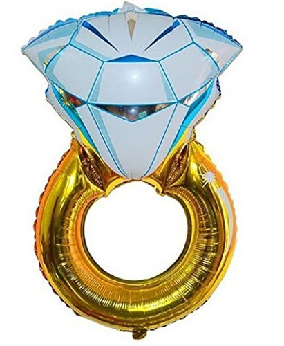 Zebratown grandes globos de 43pulgadas Oro Diamante Anillo helio globos novia ducha partido decoración