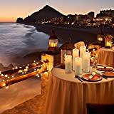 LED Kerzen,Flammenlose Kerzen 180 Stunden Dekorations-Kerzen-Säulen im 5er Set (10,2 cm 12,7 cm 15,2 cm,17.8 cm,20.3 cm)  für LED Kerzen,Flammenlose Kerzen 180 Stunden Dekorations-Kerzen-Säulen im 5er Set (10,2 cm 12,7 cm 15,2 cm,17.8 cm,20.3 cm)