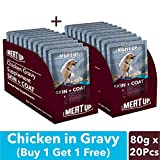 Meat Up Chicken Gravy Supplement, Skin+Coat- 80g, Pack of 10
