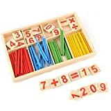 EJY Children Learning Math Toys Colours Spindles Wooden Counting Game Toy Educational Toy