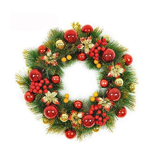 Shuangklei 50Cm Weihnachtskranz, Weihnachtsdekoration Geschenk, Weihnachtskranz, Weihnachtsbaum Zubehör