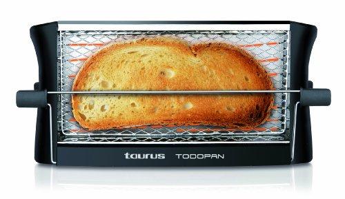 Taurus TodoPan - Tostadora para cualquier tipo de pan, tuesta en ambos lados, práctico sistema de fijación, varillas de soporte del pan con goma en el extremo de toque frío, 700 W