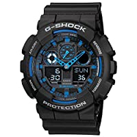Casio G-Shock Watch For Men Ana-Digi Dial Resin Band - GA-100-1A2