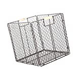 non-brand MagiDeal Faltbarer Metall Drahtkörbe Aufbewahrungskorb aus Eisen Gitterbox für Küche, 28x32x30cm - Braun