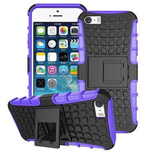 Connect Zone® Coque résistante avec support arrière pour iPhone 5 C + protecteur d'écran et chiffon