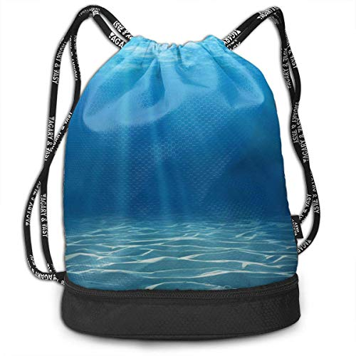 92b6aed171 BAOQIN Funny Dance Gift Unisex Drawstring Fashion Beam Backpack Undersea  Sunshine Print Backpack Travel Gym Tote