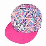Gorra de béisbol unisex de tamaño ajustable con cierre trasero, para el sol, para conductor de camión, senderismo, Hip Hop de Yohope, Pink colorful