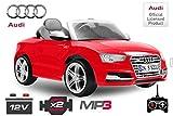 Lizenz Kinderauto Audi S5 2x35W 12V MP3 Elektro Auto Eco A5 RS5 Kidcar Kinderfahrzeug (Rot)