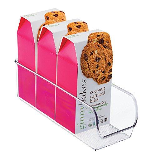 iDesign Aufbewahrungsbox, schmale Vorratsdose ohne Deckel aus Kunststoff, stapelbarer Küchenorganizer für Vorratsschrank und Kühlschrank, durchsichtig -