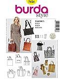 Burda B7158 - Cartamodello per realizzare borsa da donna multiuso, 19 x 13 cm