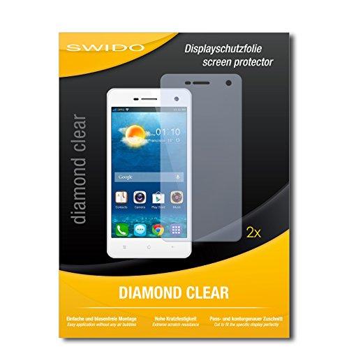 SWIDO 2 x Bildschirmschutzfolie Oppo Mirror 3 Schutzfolie Folie DiamondClear unsichtbar