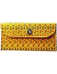 Kavish Creation Stylish Party Wear Envelope Clutch For Women, Yellow (KCL- 09)