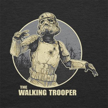 TEXLAB - The Walking Trooper - Herren Langarm T-Shirt Schwarz